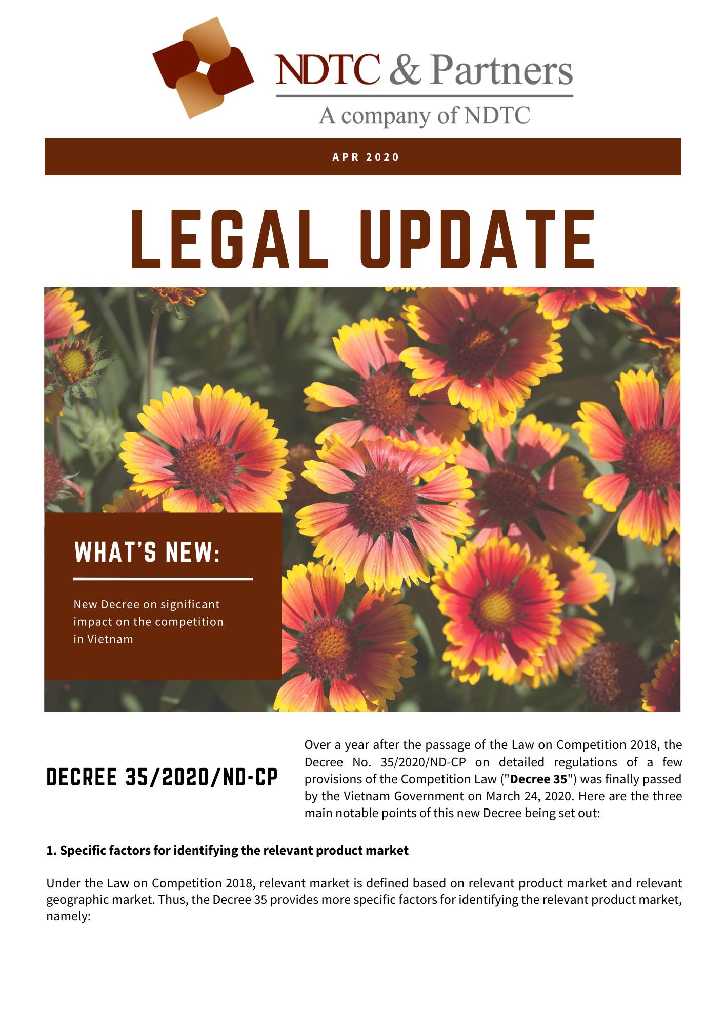 Monthly Newsletter April 2018 - EN