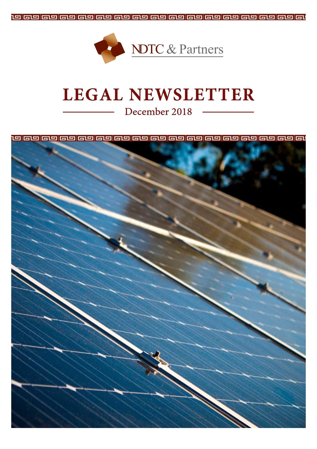 Newsletter December 2018 - EN