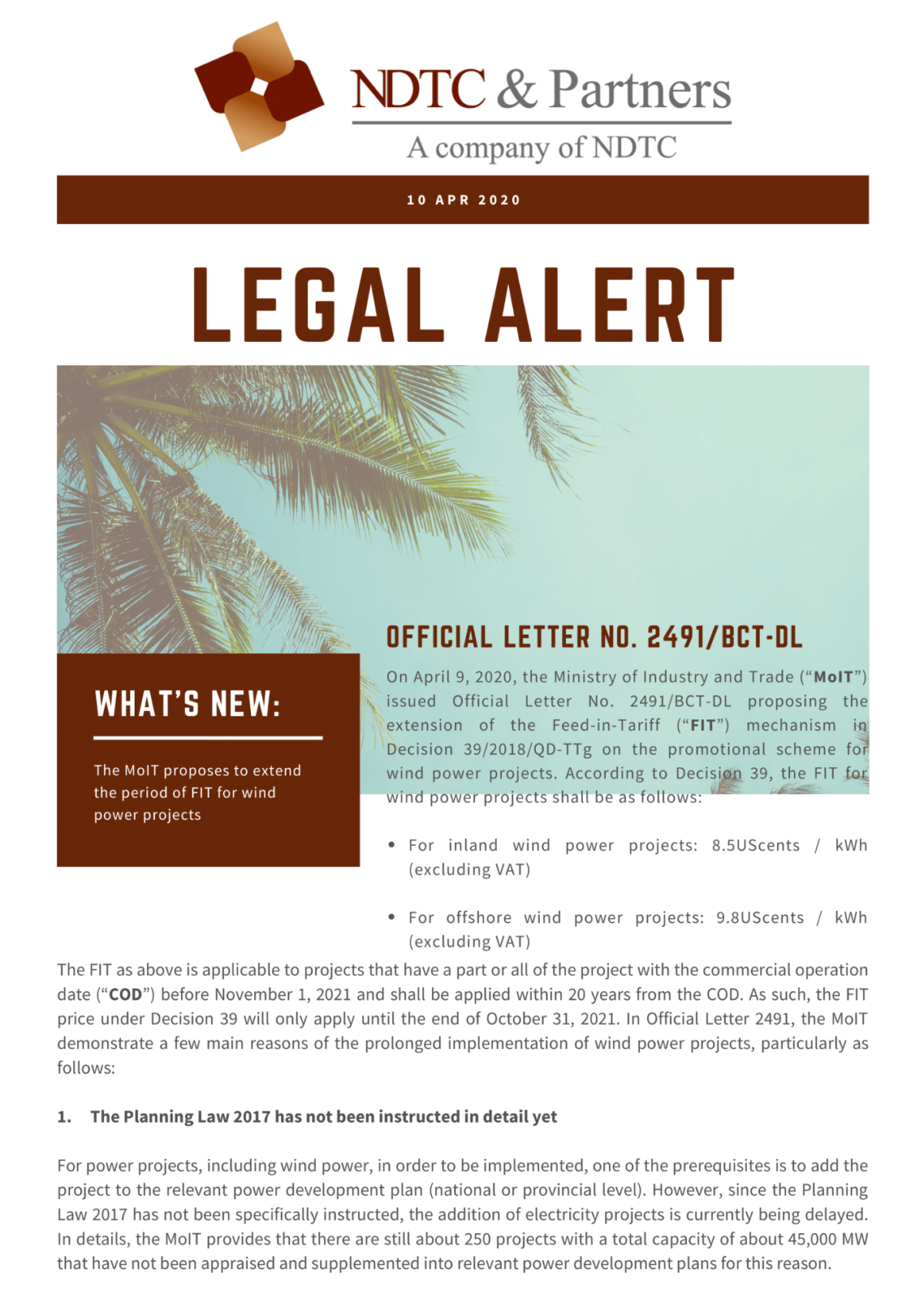 Legal Alert 10 Apr