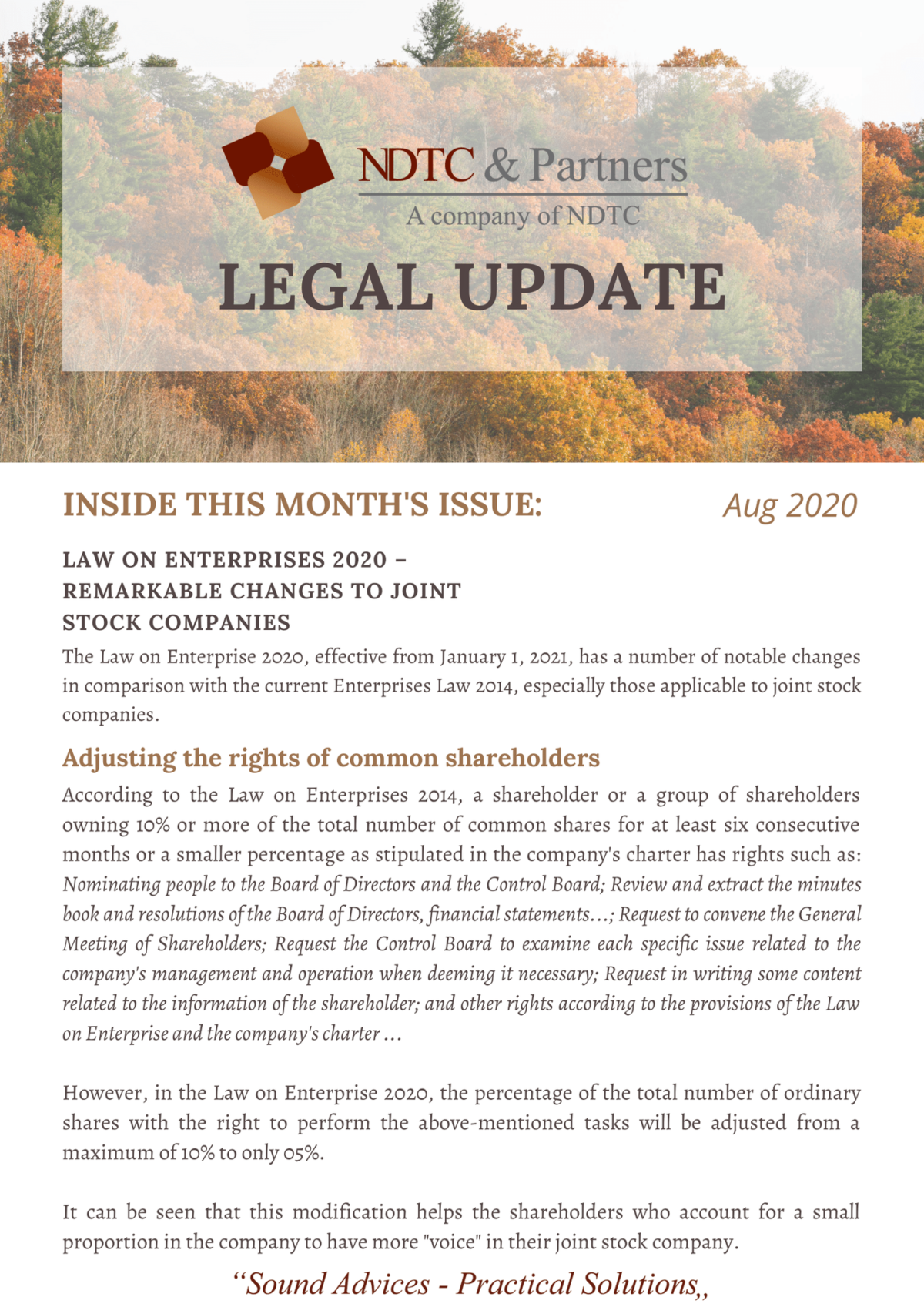 Legal Update Aug 2020
