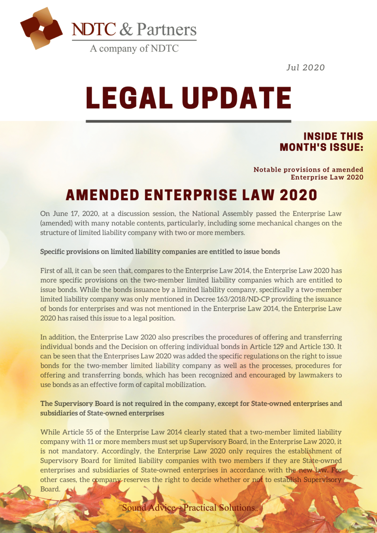 Legal Update July 2020