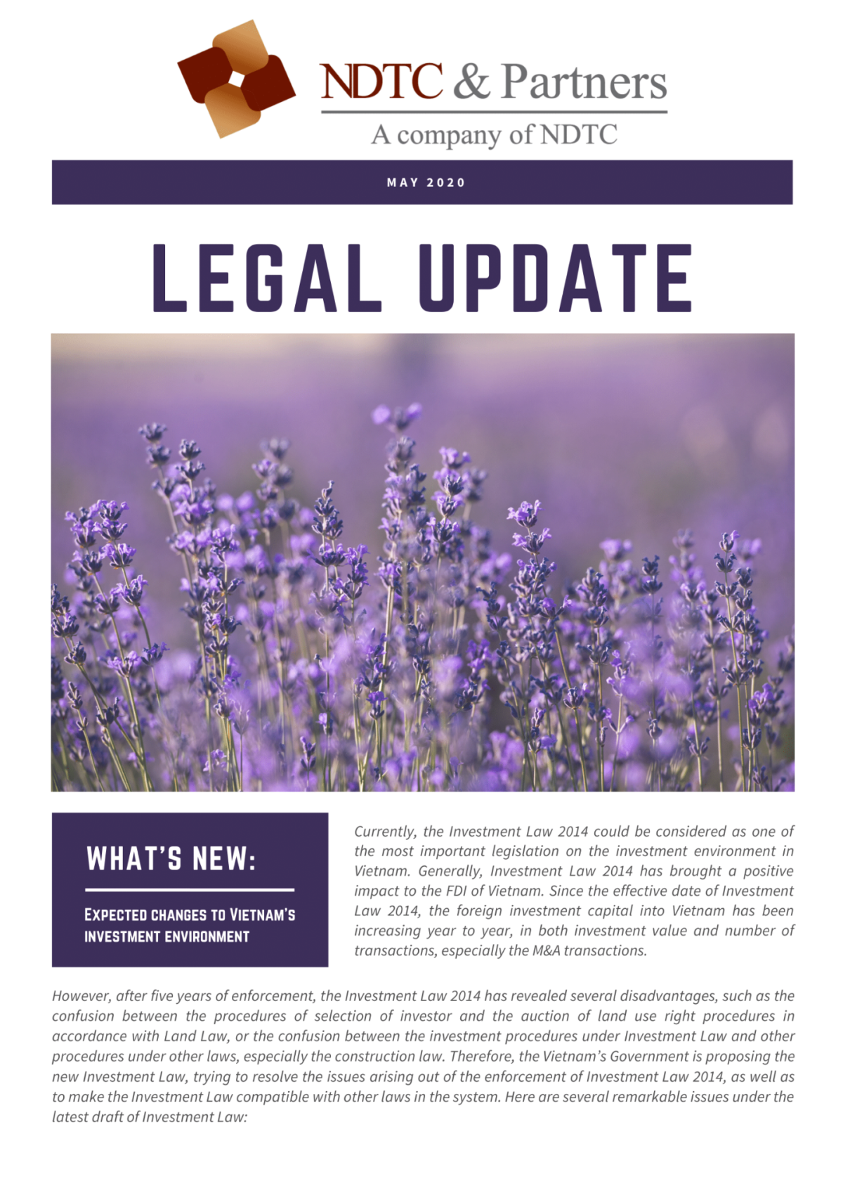 Legal Update May 2020