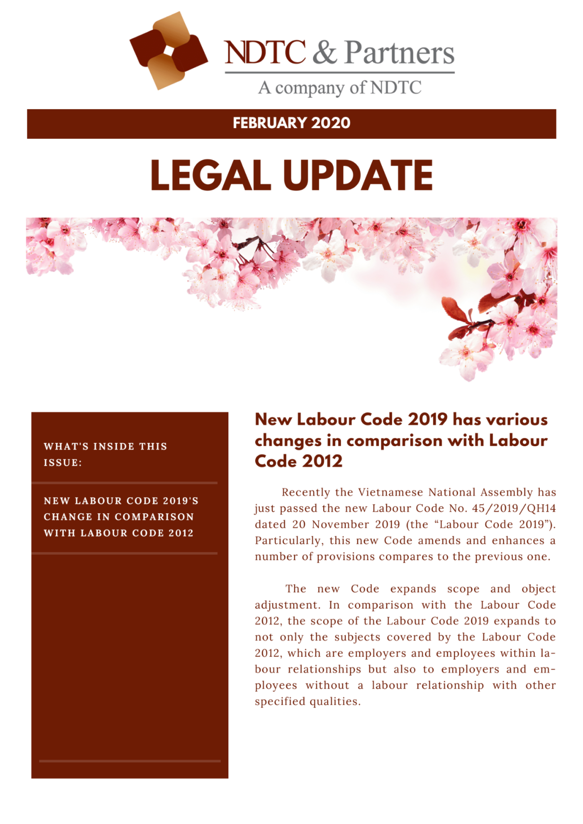 Legal Update Feb 2020